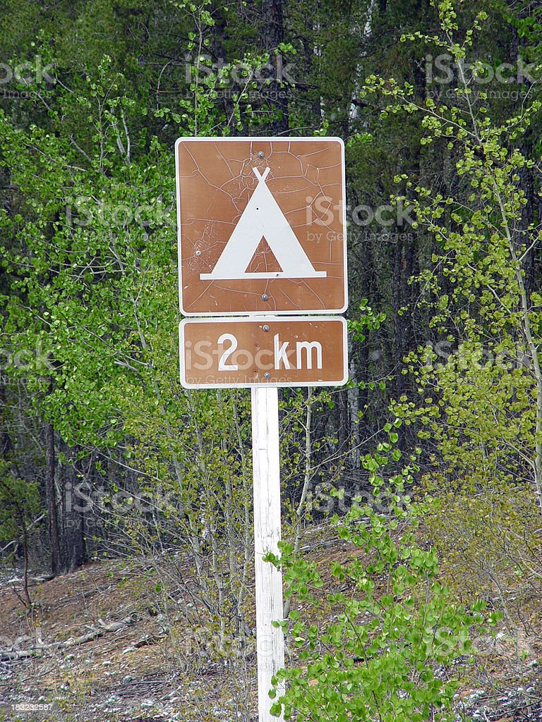 Campground ahead royalty-free stock photo