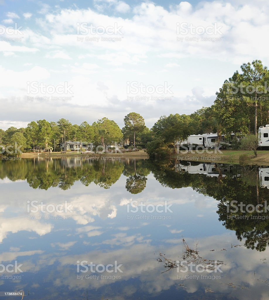 Campground Reflection royalty-free stock photo