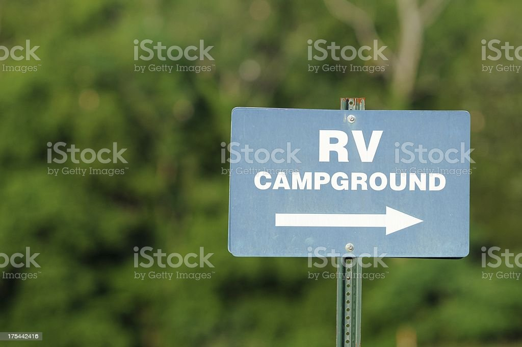 RV Campground sign with copy space royalty-free stock photo