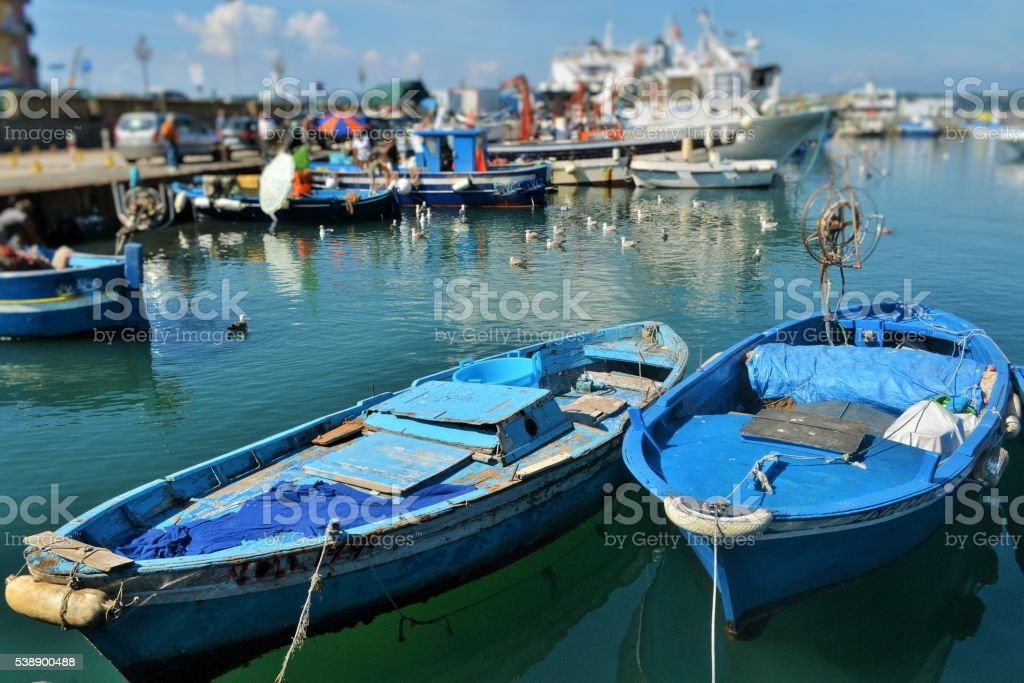 Campi flegrei, porto di Pozzuoli stock photo