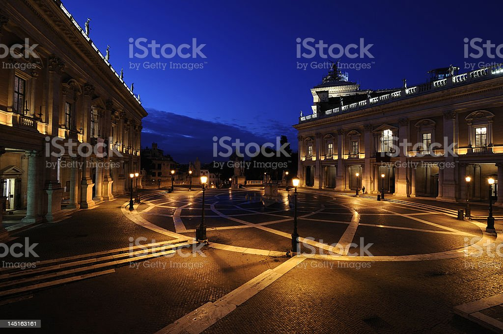 Campidoglio in the night royalty-free stock photo