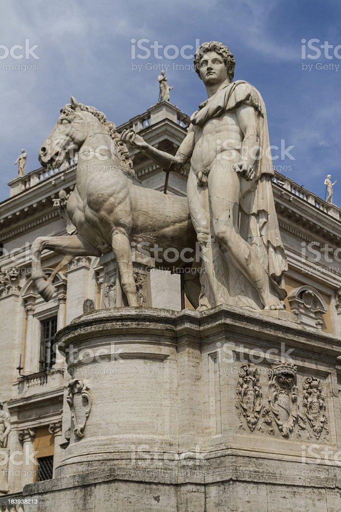 Campidoglio square (Piazza del Campidoglio) in Rome, Italy royalty-free stock photo