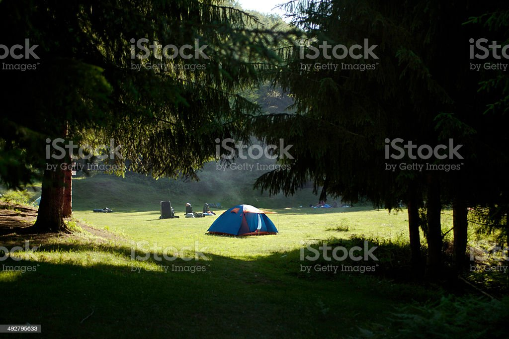 Camping alone royalty-free stock photo