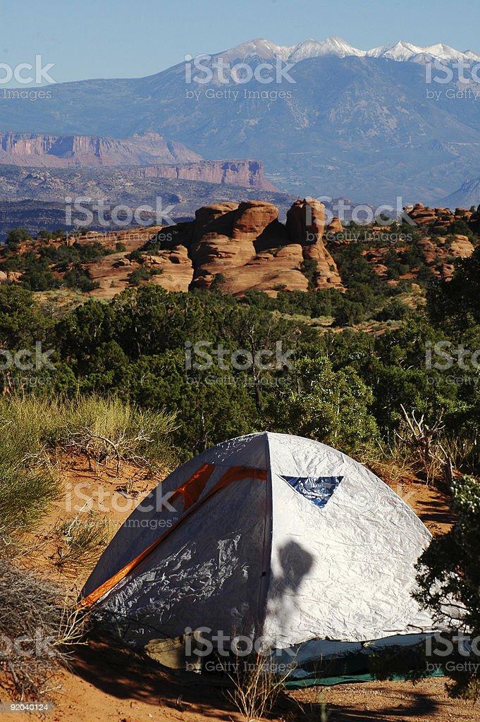 Camping at Arches National Park, Utah royalty-free stock photo