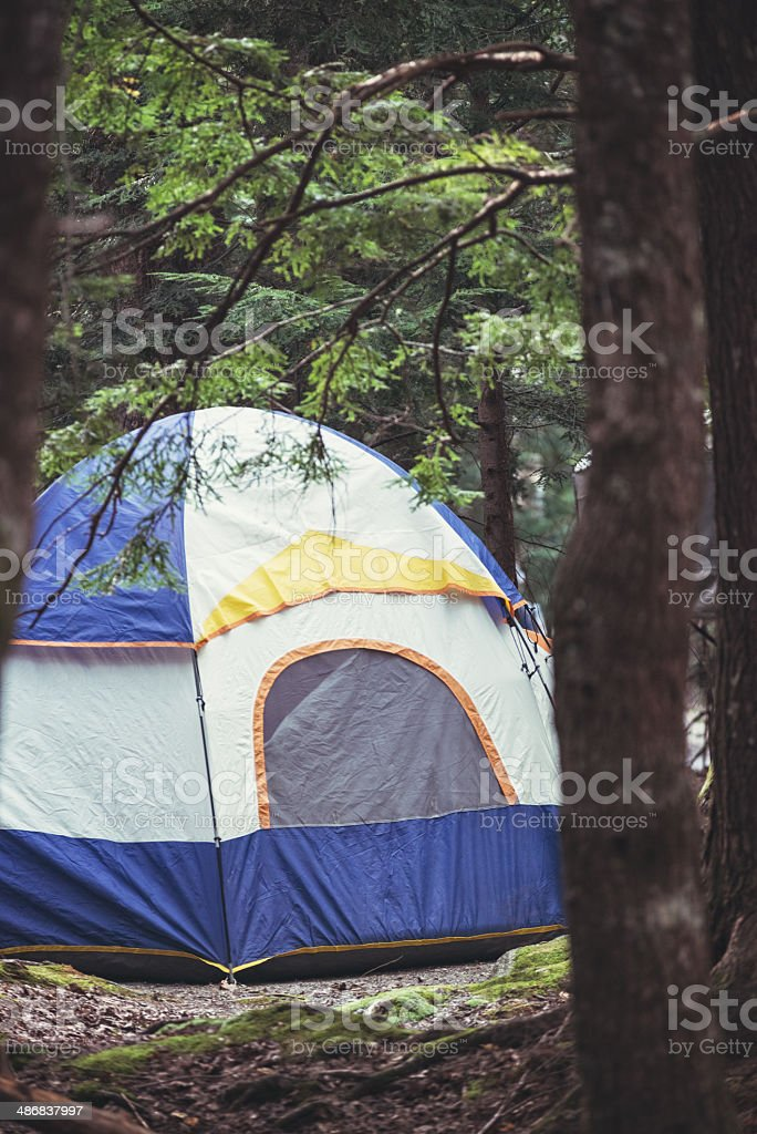 Camping at Keji stock photo