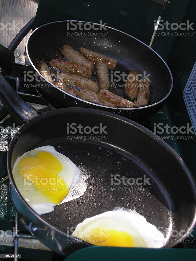 camping breakfast royalty-free stock photo