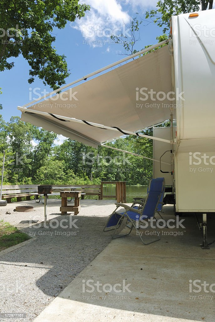 Camping by the River royalty-free stock photo