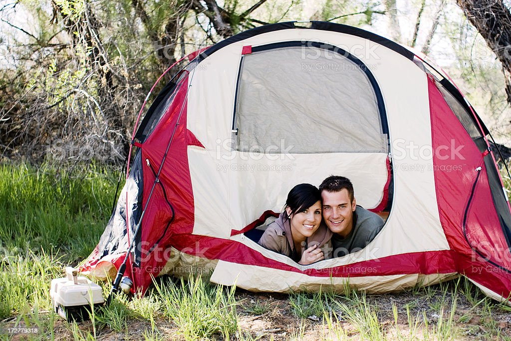 Camping Couple royalty-free stock photo