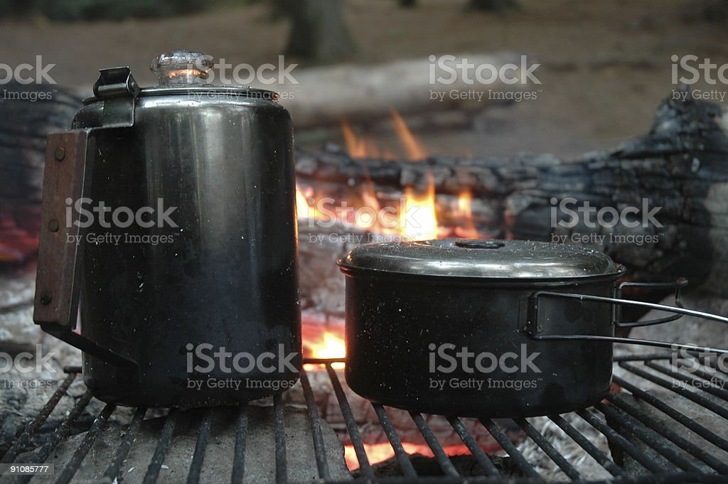 Camping Cuisine royalty-free stock photo