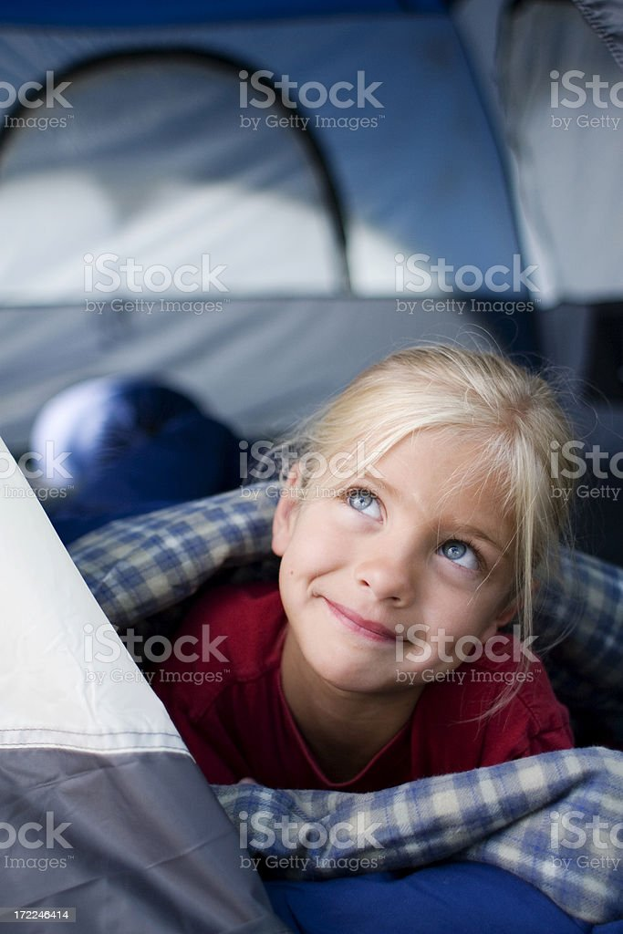 Camping Cutie royalty-free stock photo