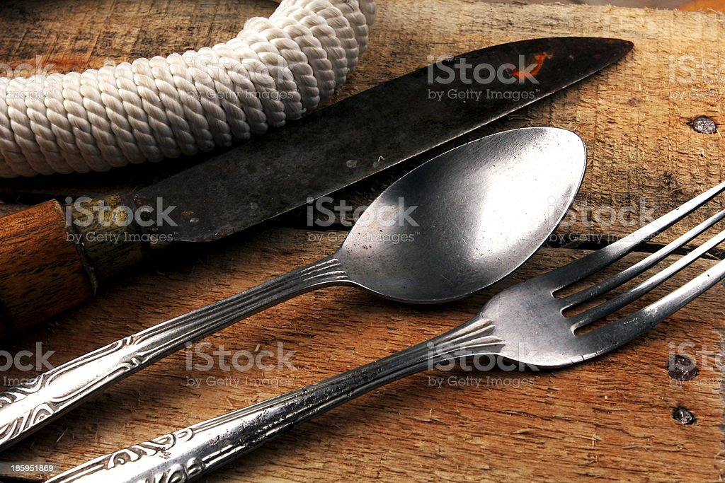 camping equipment stock photo