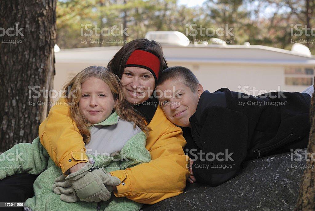 Camping Family royalty-free stock photo