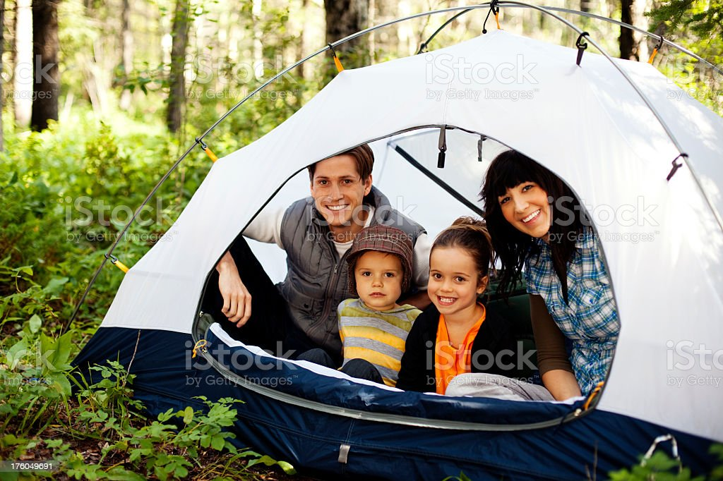 Camping Family royalty-free stock photo