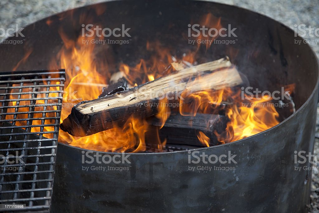 Camping fire royalty-free stock photo