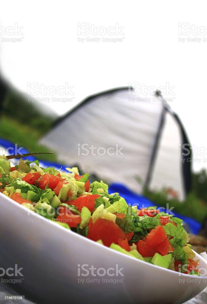 Camping food royalty-free stock photo