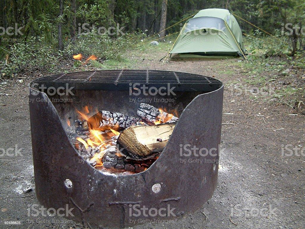 camping fun royalty-free stock photo