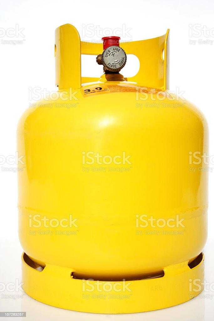 camping gas cylinder stock photo