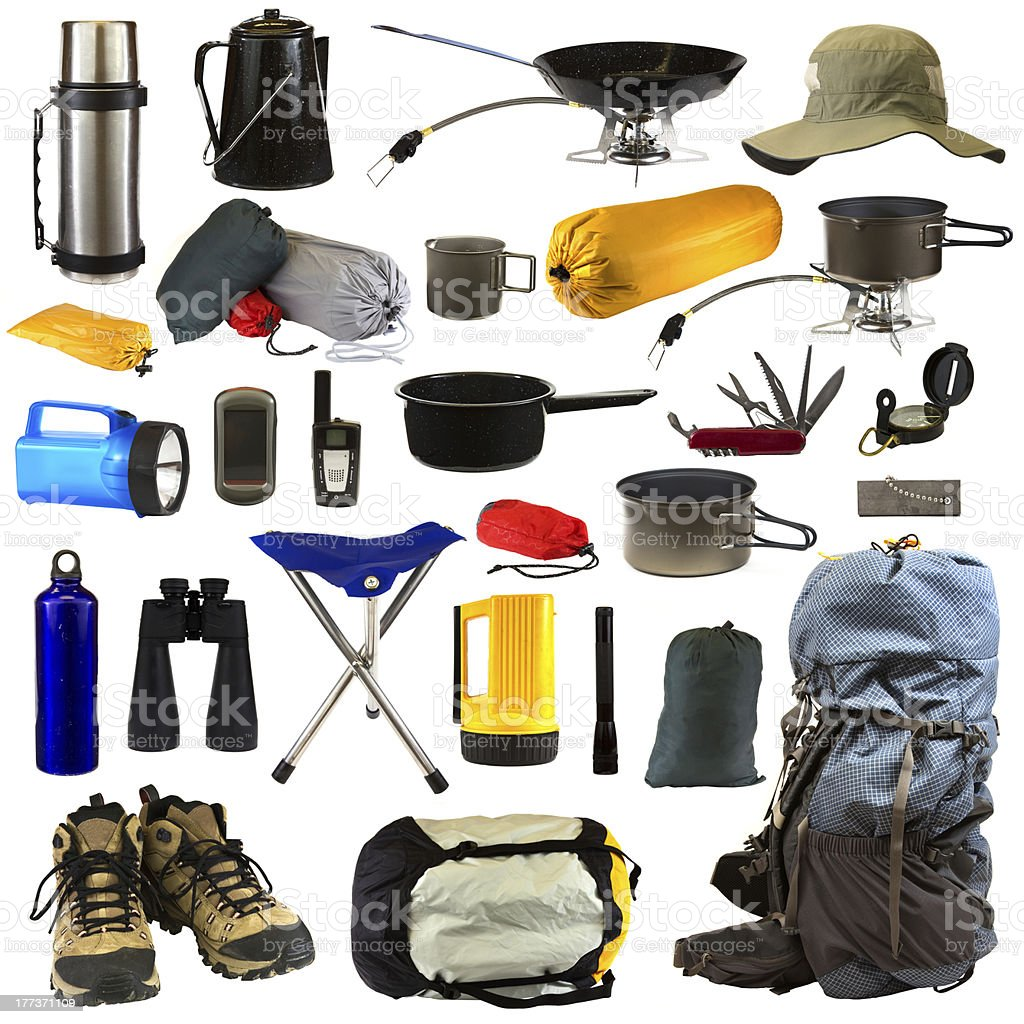 Camping Gear royalty-free stock photo