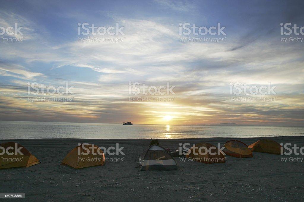 Camping in Baja Mexico royalty-free stock photo