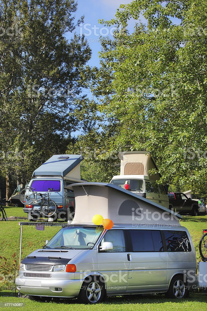 RV Camping in Group royalty-free stock photo