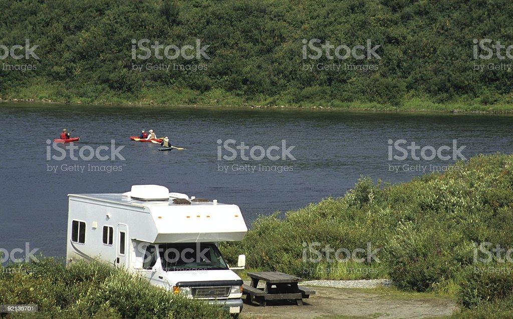 Camping in Tangle Lakes Alaska royalty-free stock photo