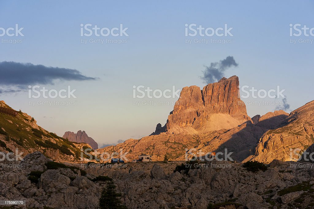 Camping in the Alps royalty-free stock photo