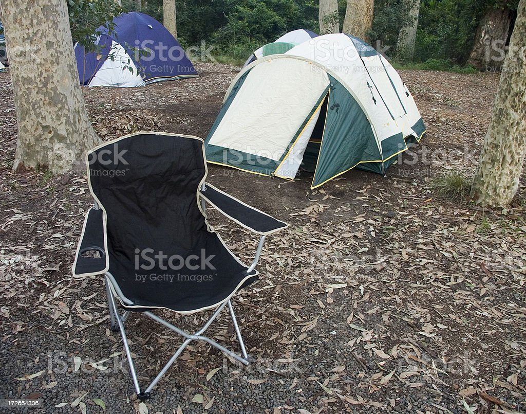 Camping in the bush royalty-free stock photo