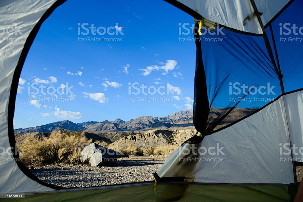 Camping in the Desert - Horizontal Crop royalty-free stock photo