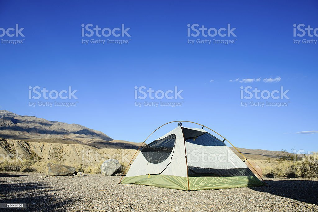 Camping in the Desert - Outdoors royalty-free stock photo