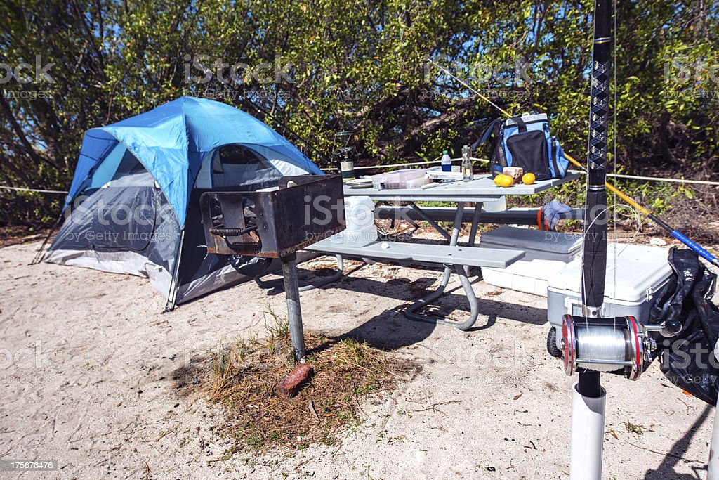Camping in the Florida Keys stock photo