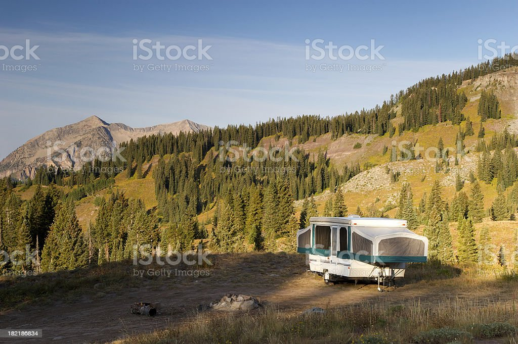 Camping in the Rockies royalty-free stock photo