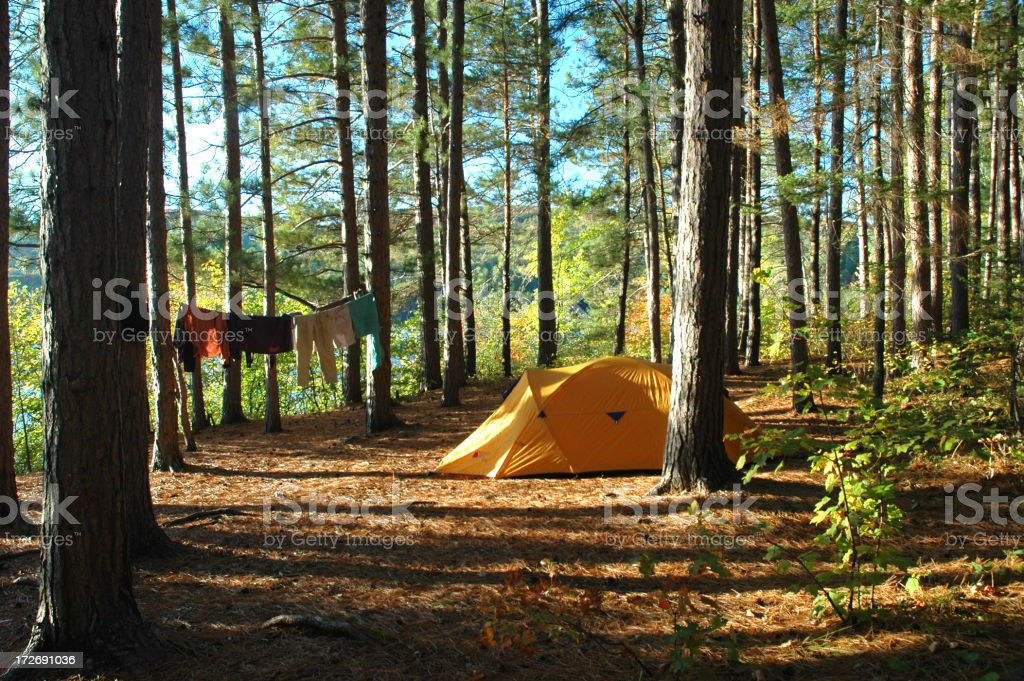 Camping in the Summer royalty-free stock photo