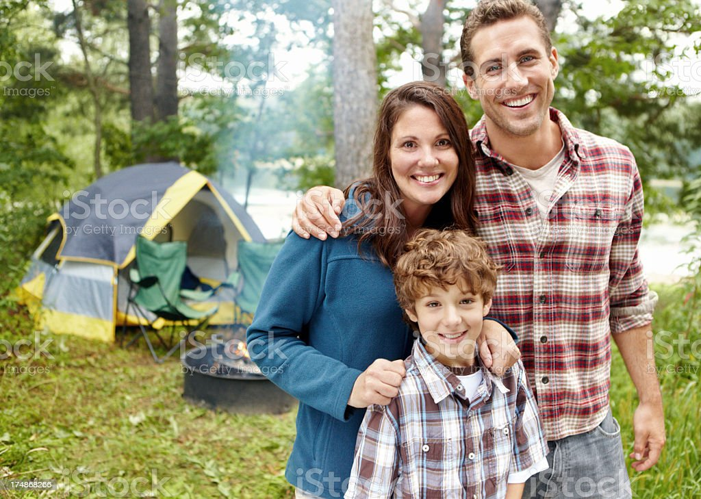Camping is their favourite pastime royalty-free stock photo