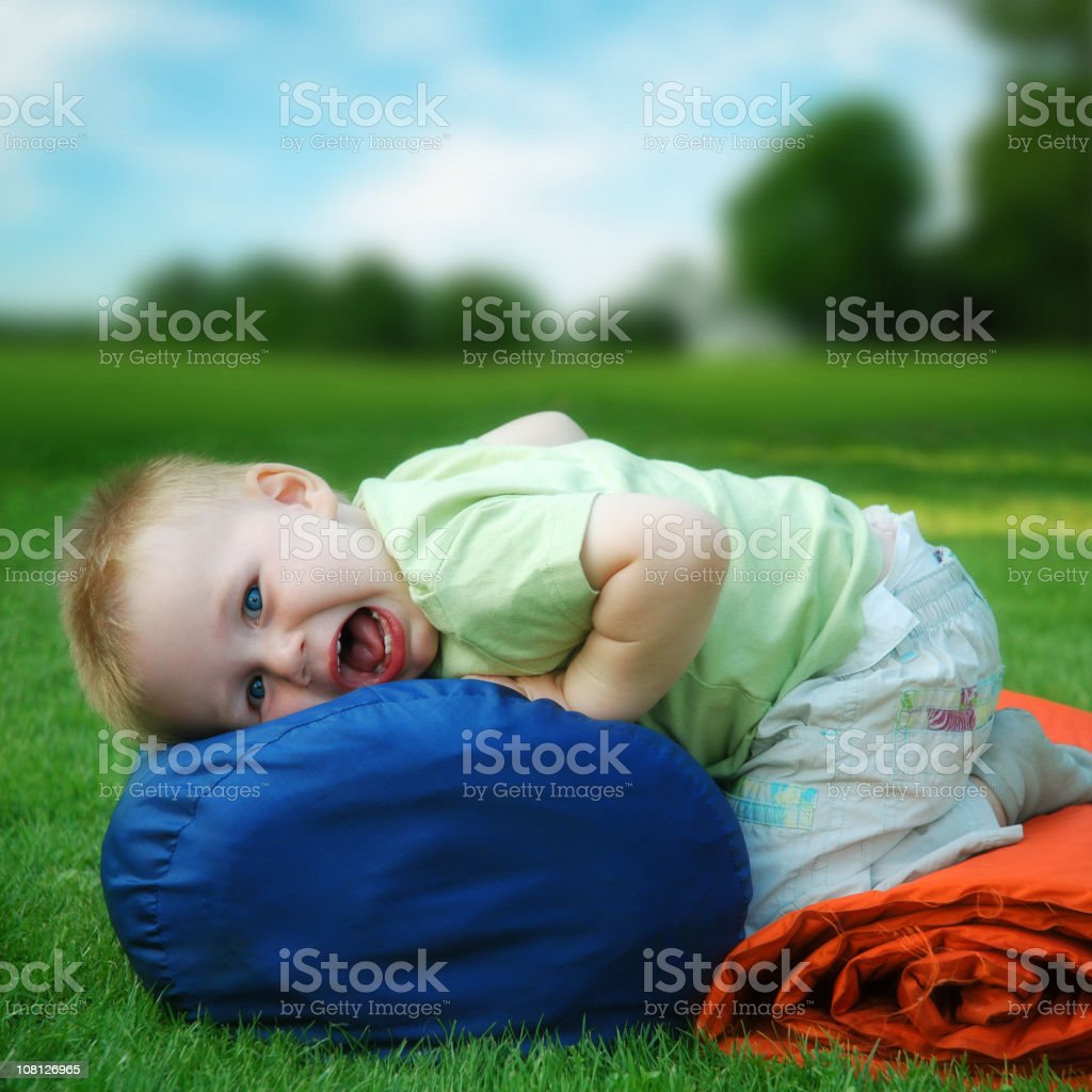 Camping Kid royalty-free stock photo