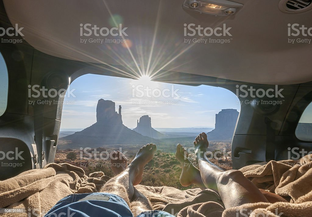 Camping, Monument Valley stock photo