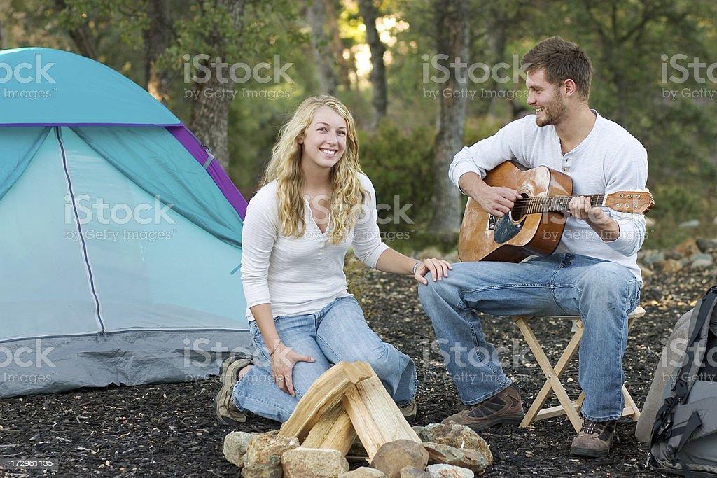 Camping Music royalty-free stock photo