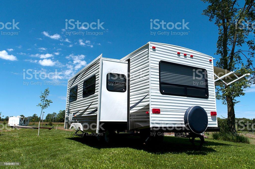 RV Camping royalty-free stock photo