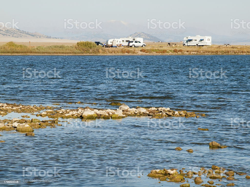 RV Camping stock photo