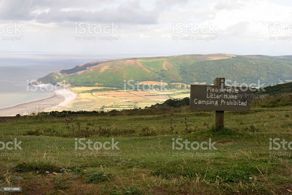 Camping prohibited royalty-free stock photo