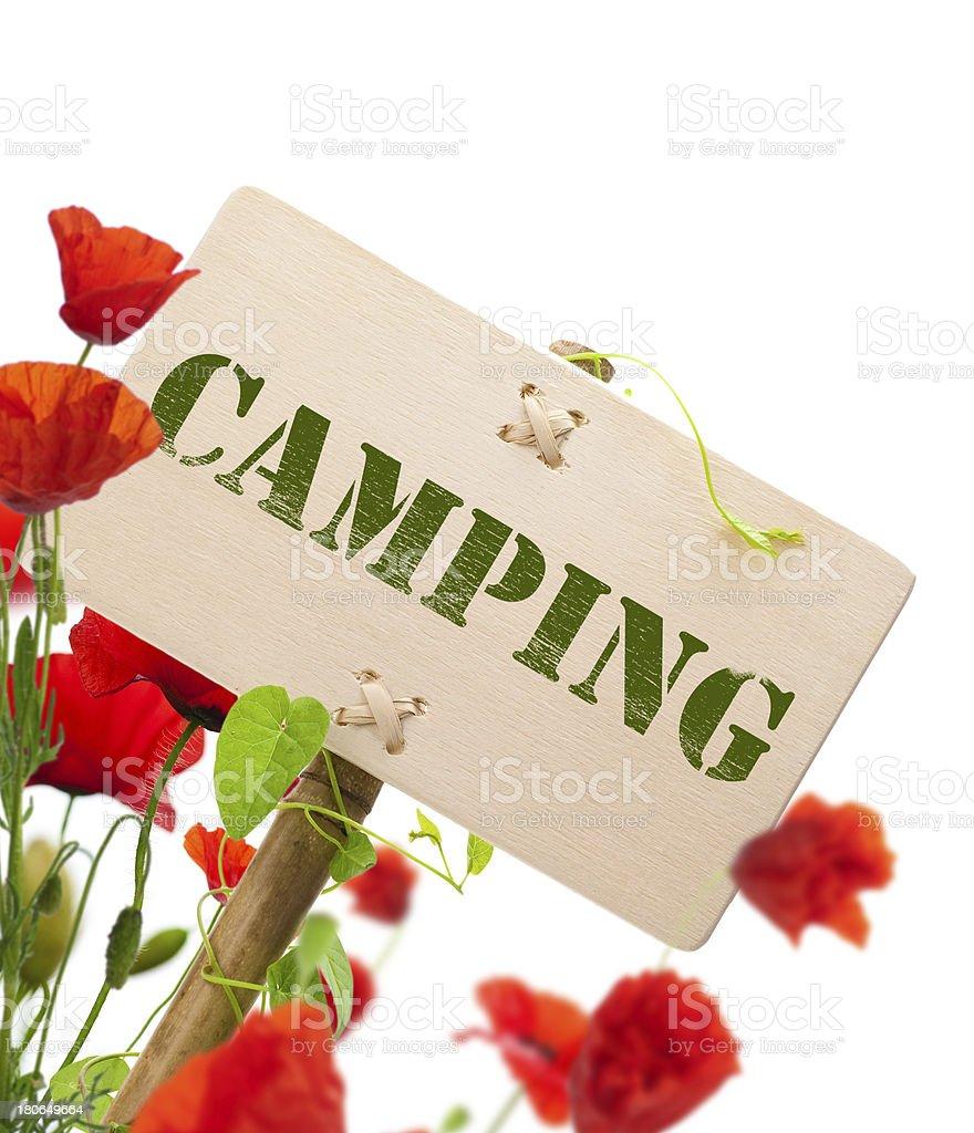 Camping sign royalty-free stock photo