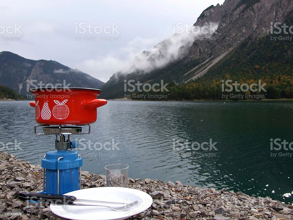 Camping stove royalty-free stock photo