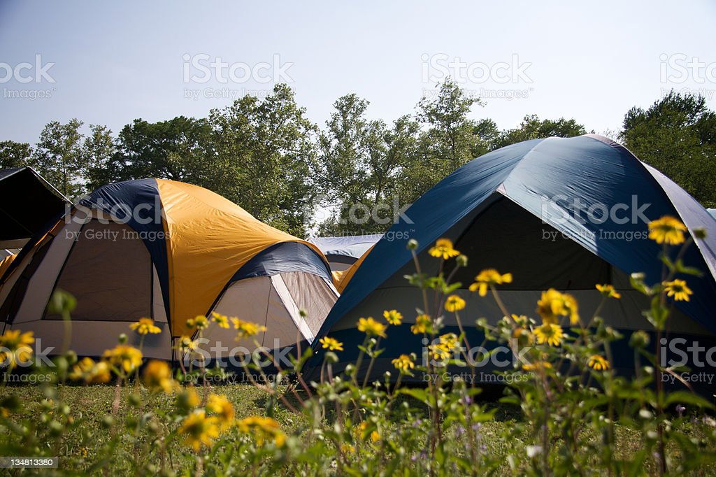 Camping Tent Site royalty-free stock photo