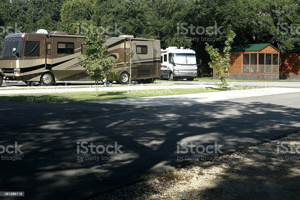 Camping, the Modern Way royalty-free stock photo