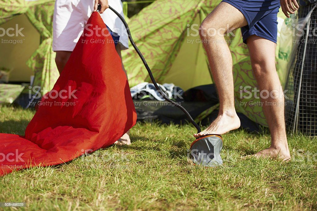 Camping time!!! stock photo