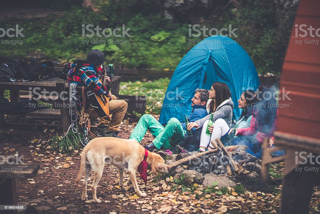 Camping time stock photo