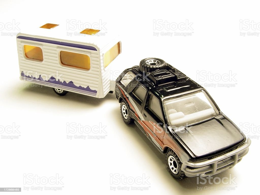 camping  trailler & car royalty-free stock photo