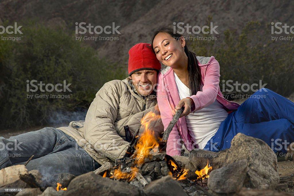 Camping trip royalty-free stock photo
