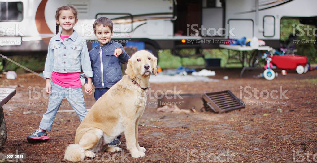 RV Camping Trip stock photo