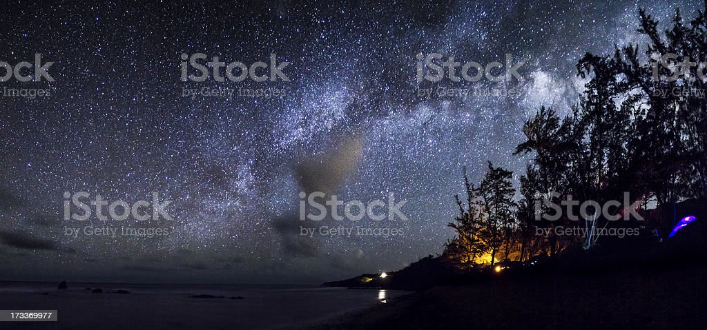 Camping under the stars in Maui royalty-free stock photo