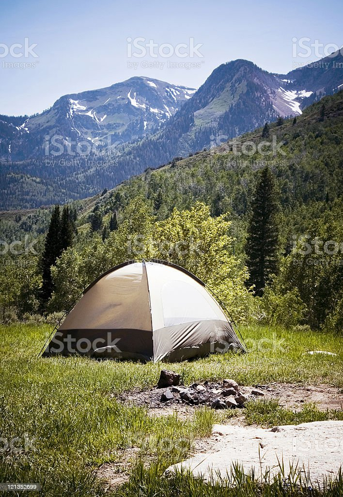 Camping up American Fork Canyon in Utah royalty-free stock photo